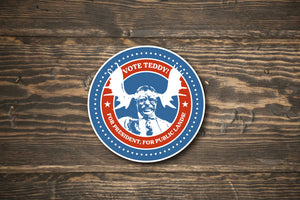Vote Teddy! Bull Moose Election Sticker