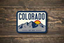 Load image into Gallery viewer, Colorado Maroon Bells Colorado State Vinyl Sticker