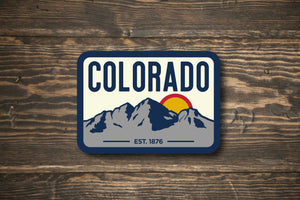 Colorado Maroon Bells Colorado State Vinyl Sticker