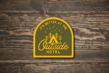Load image into Gallery viewer, Outside Hotel Camping Vinyl Sticker