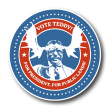 Load image into Gallery viewer, Vote Teddy! Bull Moose Election Sticker