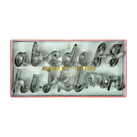 Alphabet Cookie Cutters, Set Of 27