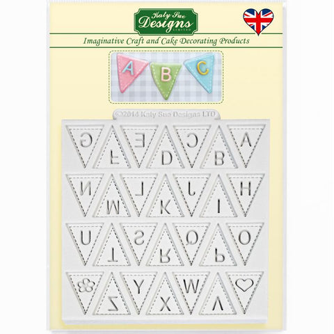 Bunting Alphabet Mould