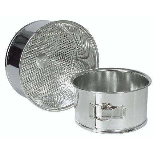 Deep Spring Form Baking Pan, Polished Tin