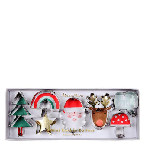 Mini Christmas Cookie Cutters, Set of 7