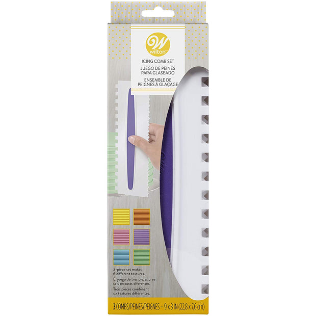 Wilton Icing Comb Set, 3 Piece