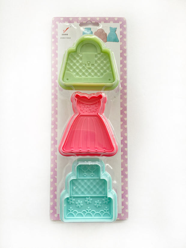 3-Piece Fashion Cookie Plunger Cutter