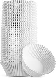 4.5'' Fluted Paper Baking Cups, Regular, White, 1000 Pieces