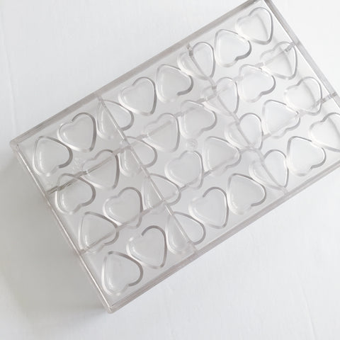 Polycarbonate Chocolate Moulds, Heart, 1046