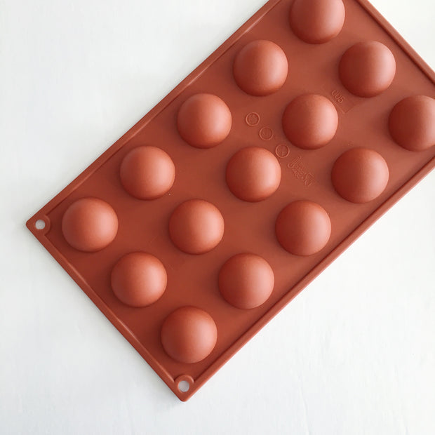 Silicone Mould, 15 Mini Sphere