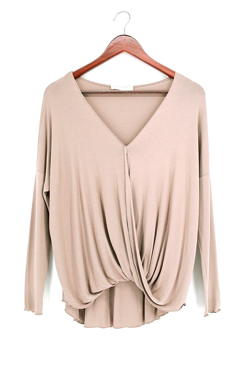 Surplice Front Long Sleeve Top