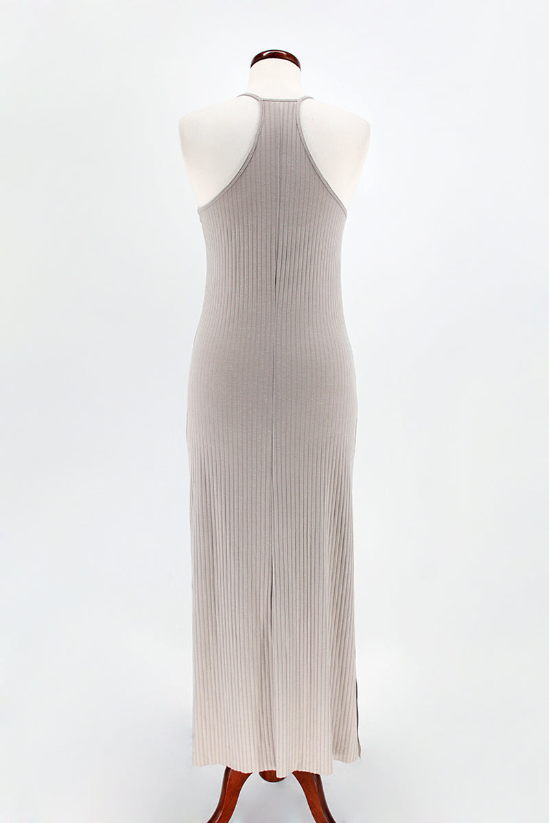 Ribbed Halter Maxi Dress