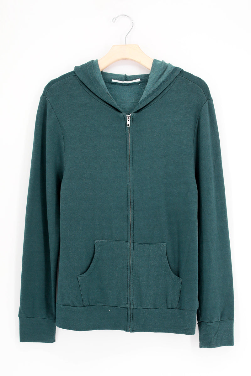 Lets Hang Active Washed Zip Up Hoodie
