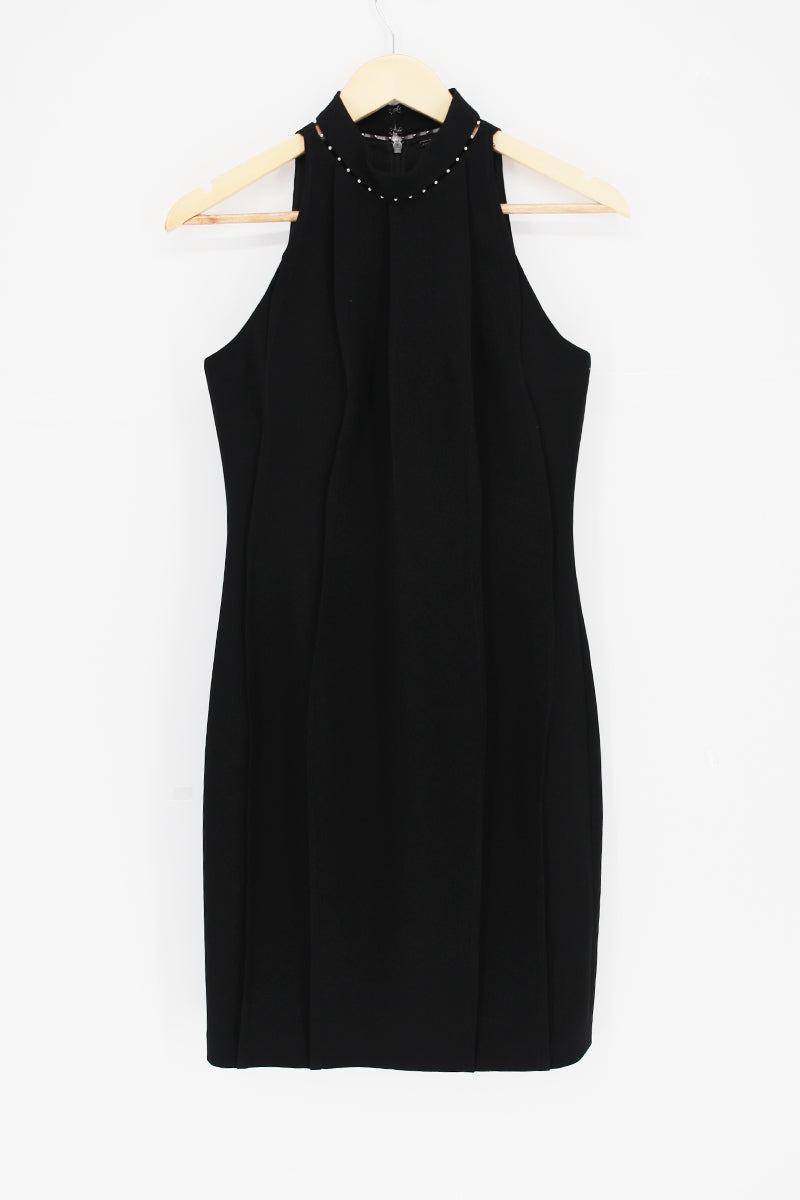 ELIE TAHARI Classic Bead Flare Cocktail Dress