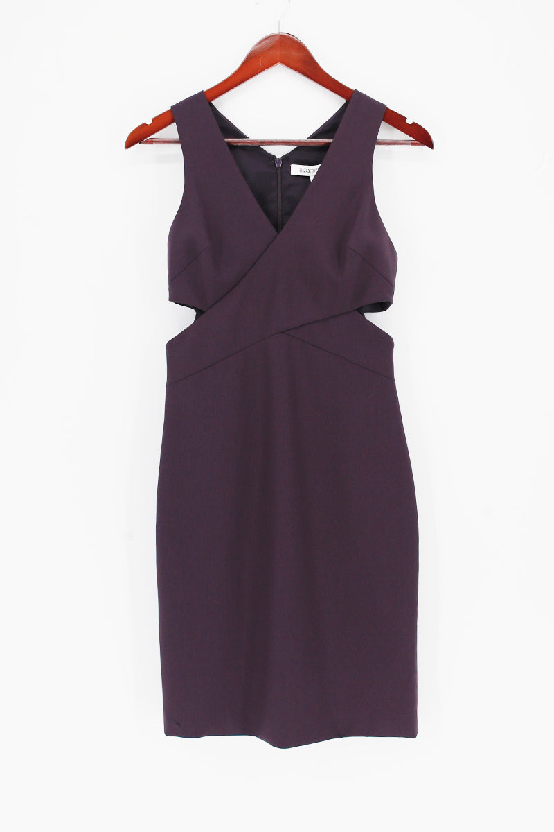 ELIZABETH AND JAMES Cut-Out Detailing Fitted Cocktail Dress