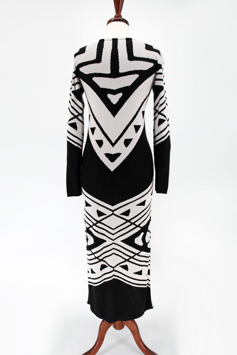 Bauhaus Sweater Long Sleeve Maxi Dress