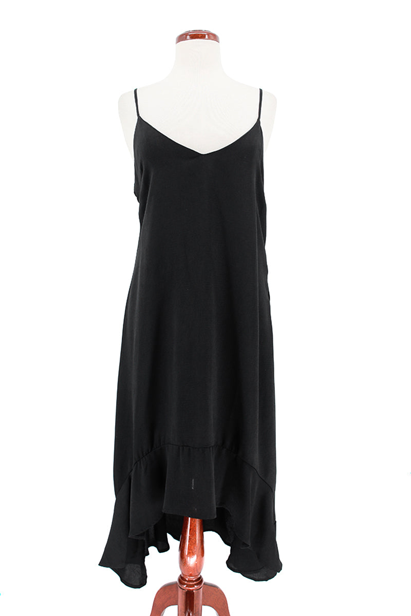 Spaghetti Strap High Low Slip Dress
