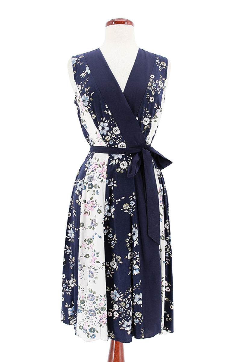 MAISON JULES Floral Printed Surplice Wrap Dress