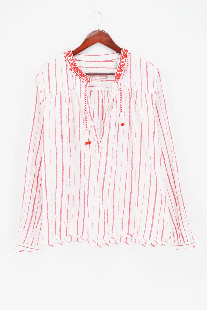 SCOTCH & SODA Stripe Drapey Woven Top