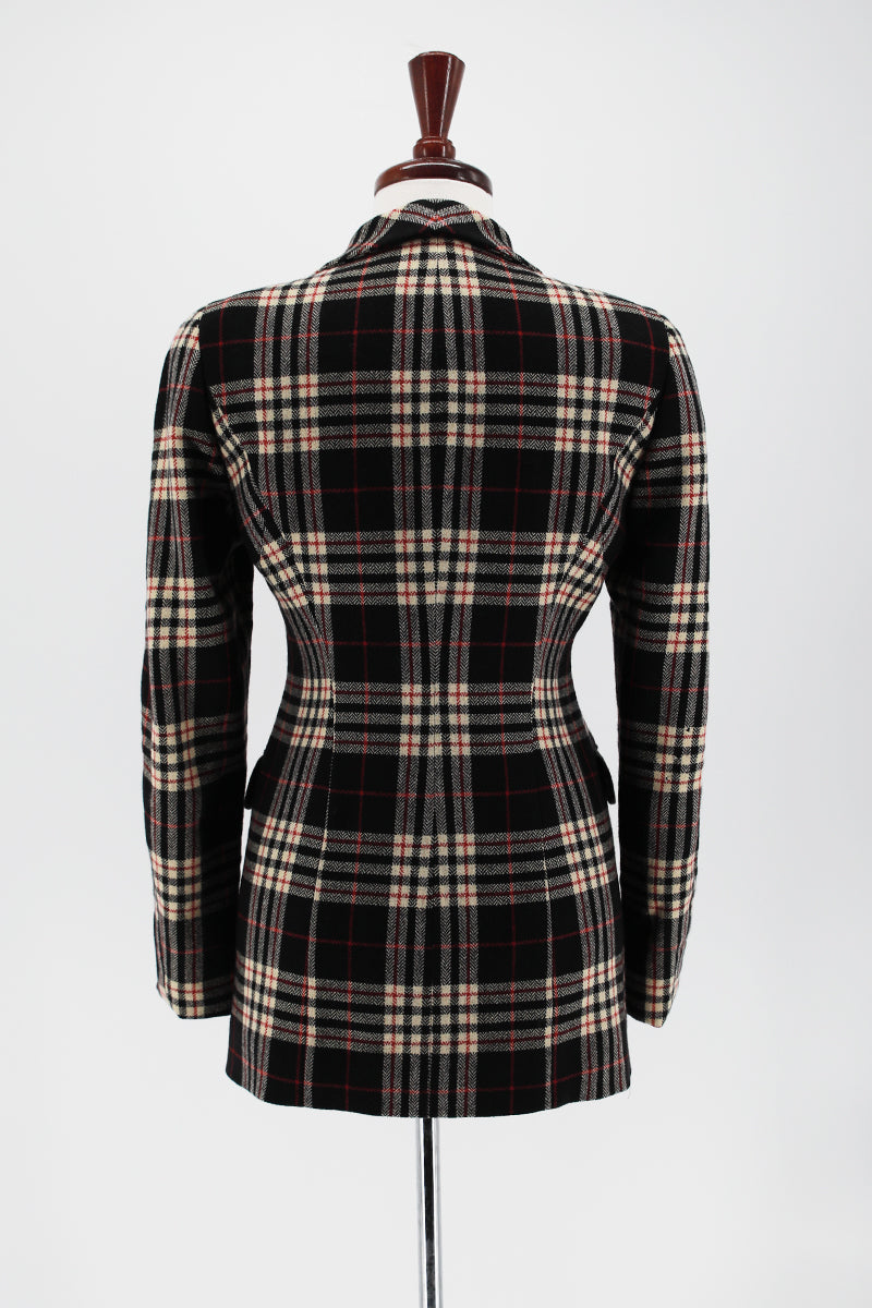 ZIL SANDER Structured Plaid Blazer Jacket