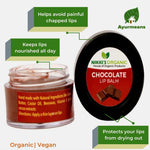 Chocolate Lip Balm | Chapped | Dark | Pink lips | Organic
