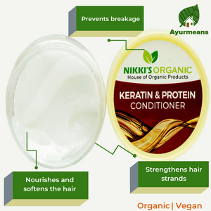 Keratin & Protein Conditioner | Organic | For Dull, Curly, Dry Hair
