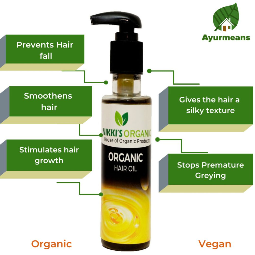 Natural Hair Oil – 100% Organic | Men & Women