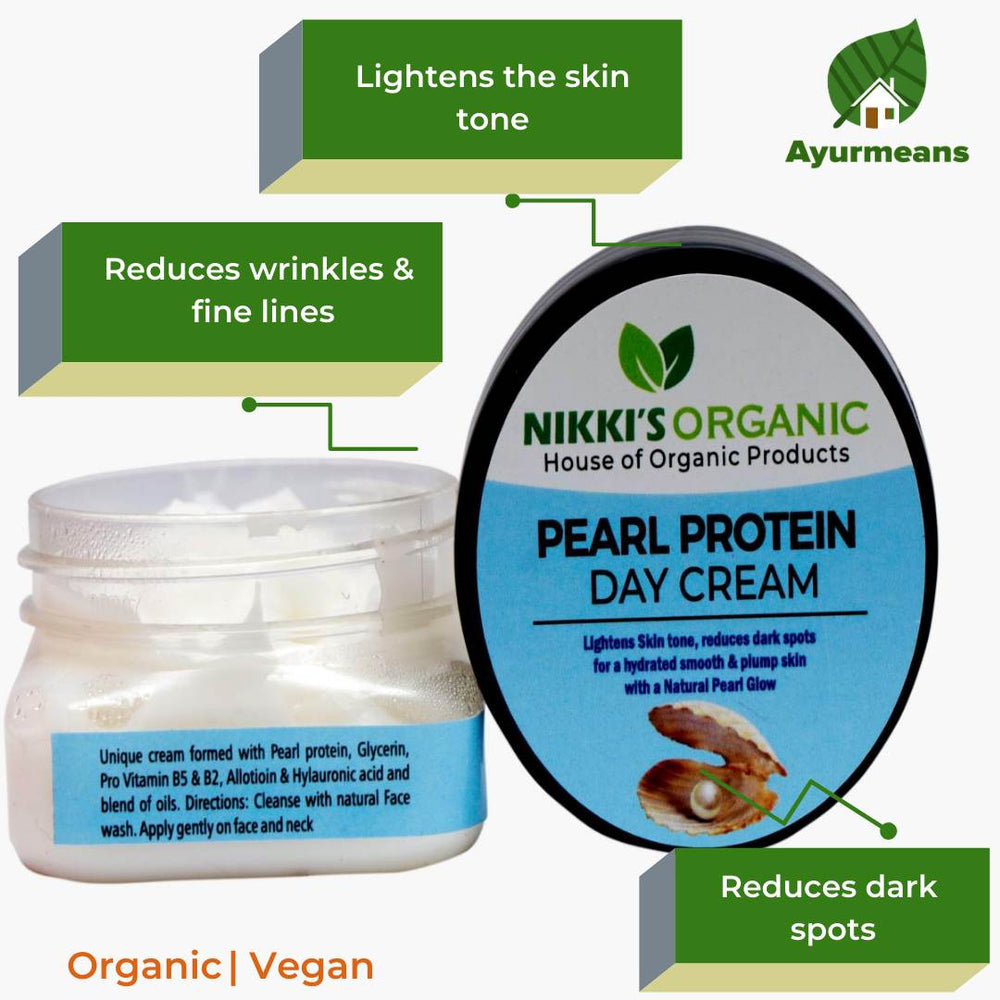 Pearl Protein Day Cream | Men & Women | Organic | Glow Skin