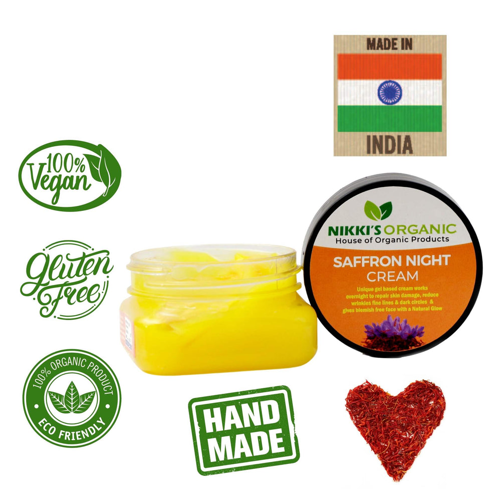 Saffron Night Cream | Natural & Organic | Oily & Dry Skin