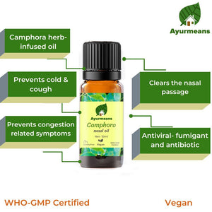 Camphora nasal oil | Herb-infused | Ayurvedic Nose Oil-Ayurmeans