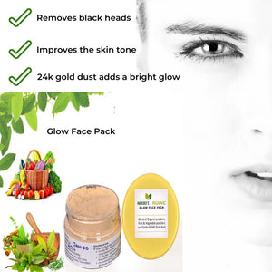 Glow Face Pack - Herbal | Skin Care | Step By Step Ayurmeans