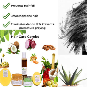 Hair Care Combo - Herbal & Natural | Step By Step | Complete Hair Problems Solution Ayurmeans
