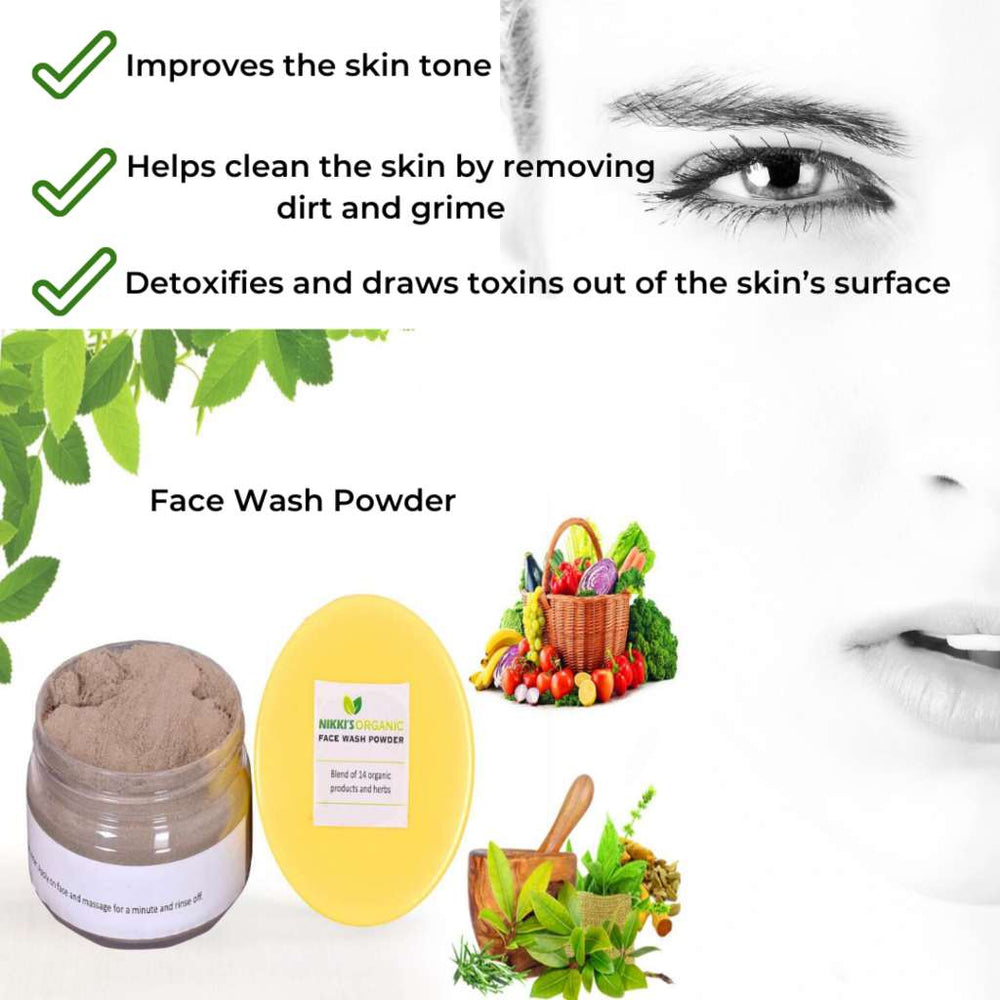 Herbal Face Wash Powder | Skin Care | Step By Step-Ayurmeans