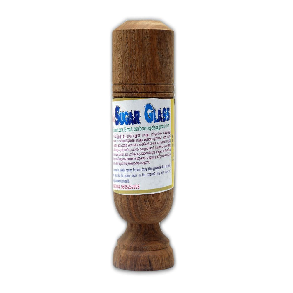 Natural Wooden Sugar Glass or Vijaysar Wood Glass-Ayurmeans