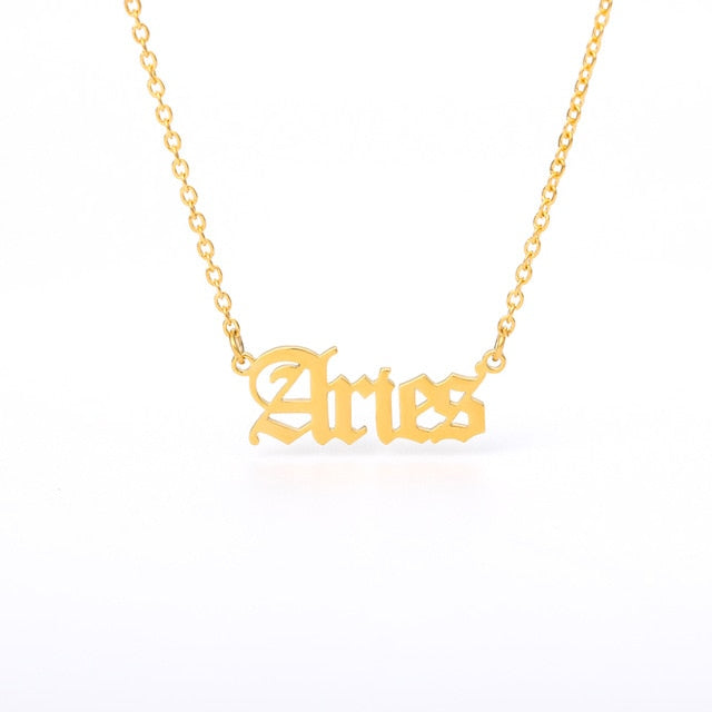 """Constellation Station"" Gold Zodiac Necklace"