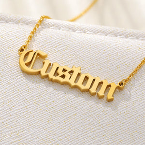 """Goal Digger"" Personalized Custom Name Necklace"