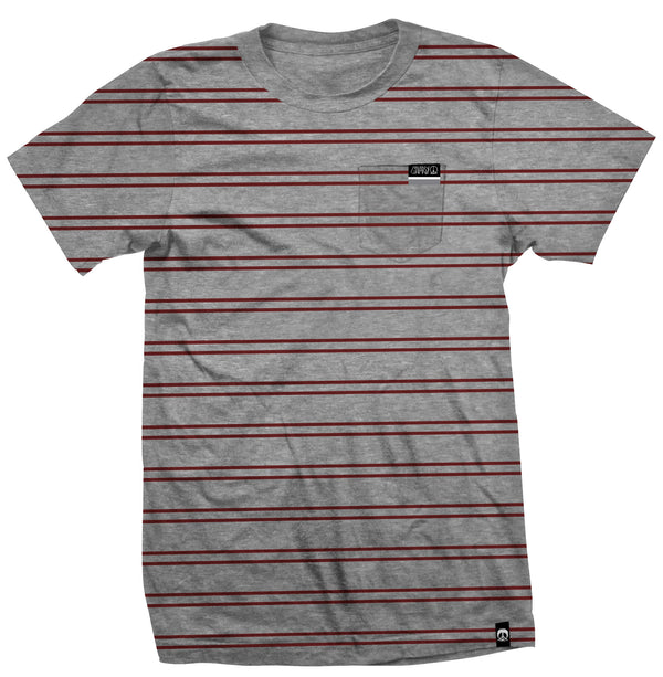Gnarly - Stripe Pocket Gry S/S Tee
