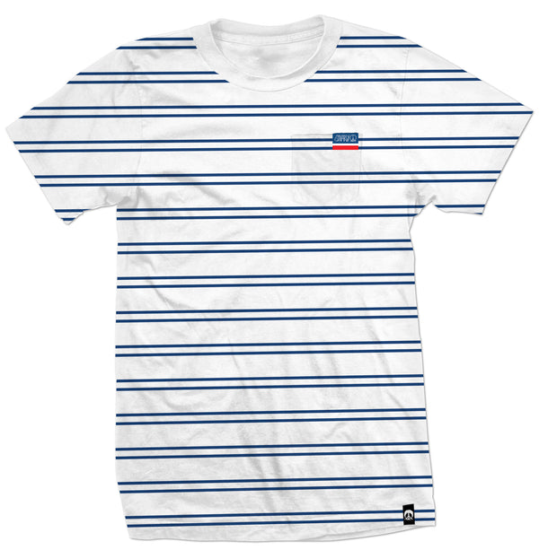 Gnarly - Stripe Pocket Wht S/S Tee