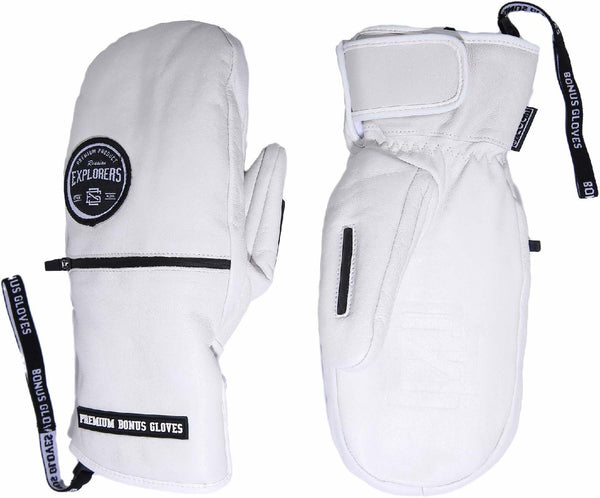 Bonus Gloves - White Leather