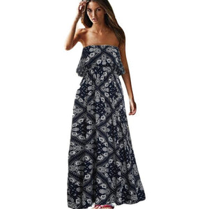 Strapless Boho Maxi Dress