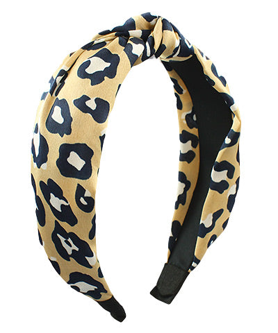 Knotted Abstract Leopard Headband