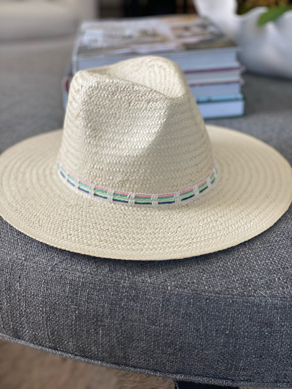 Straw Fashion Hat with Braided Detail