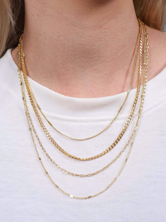 Hemsway Multi Layer Chain Necklace Gold