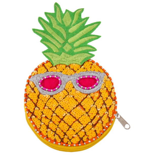 Pineapple Sequin Coin Pouch