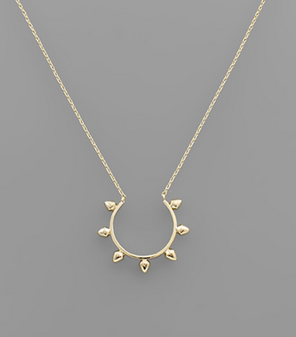 Spike Open Circle Necklace