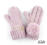 Kids Pom Glove with Fuzzy Lining