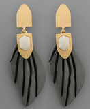 Acrylic Leaf Drop Earrings
