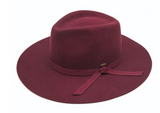 Australian Wool Felt Panama Hat Featuring Grosgrain Bow Trim