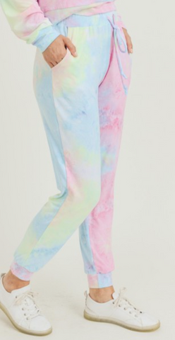 Women's Tie-Dye Lounge Around Jogger Pants