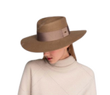 Australian Wool Felt Wide Brim Hat Featuring Wide Ribbon Band